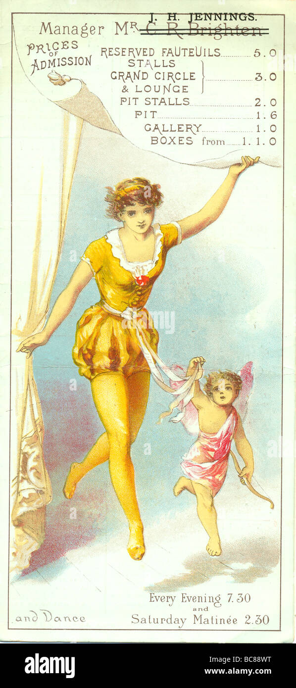 Chromolithographed section of cover of The Oxford Programme titled Dance - Stock Image