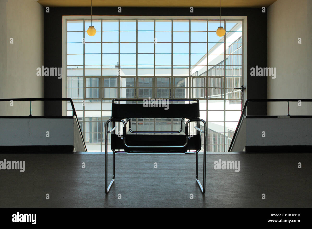 Bauhaus design interior exterior dessau germany - Stock Image