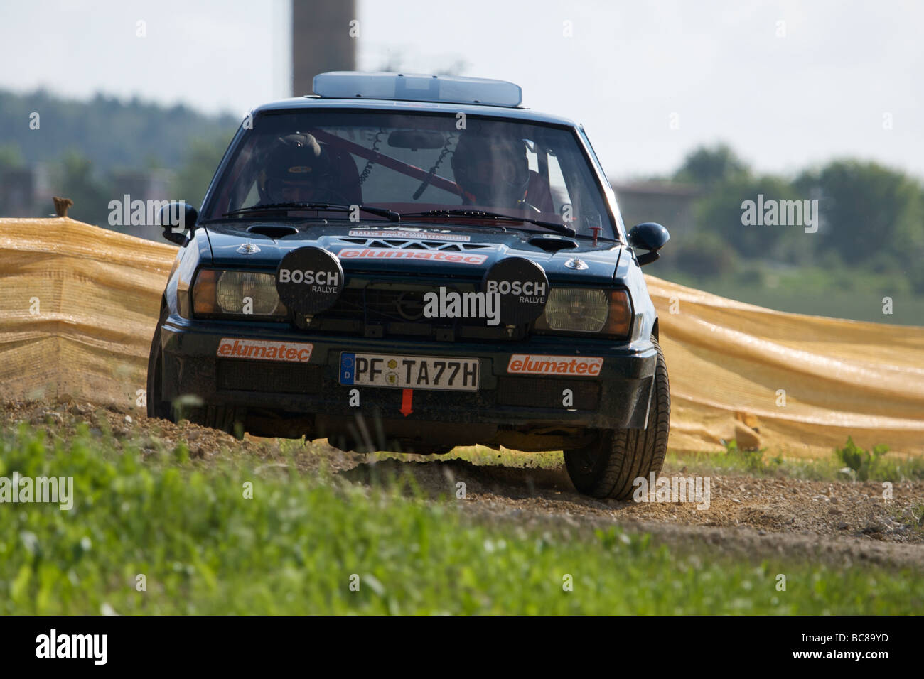 AvD Rallye Baden-Württemberg 2009 - Historic Car Race - Stock Image