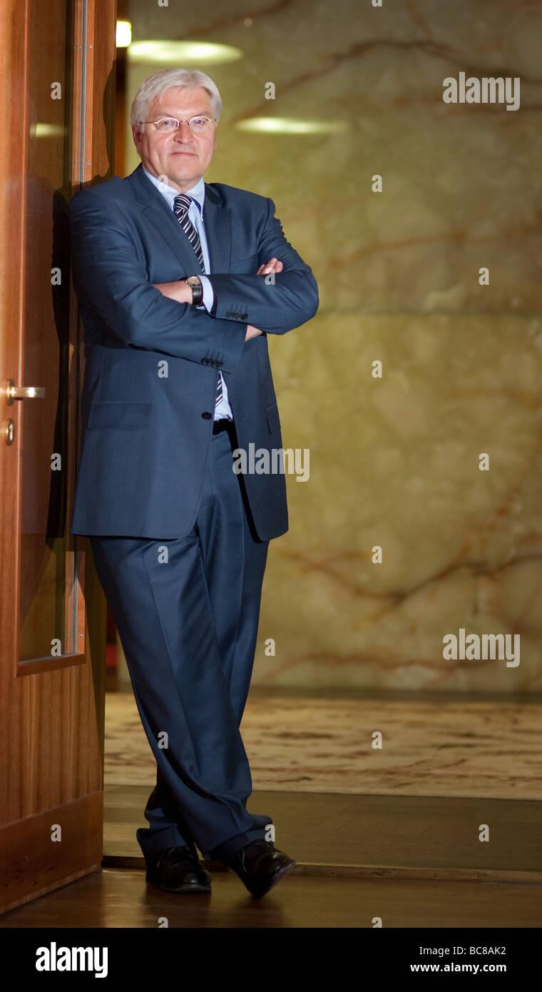 Bundesaussenminister Frank Walter Steinmeier SPD im Auswaertigen Amt - Stock Image