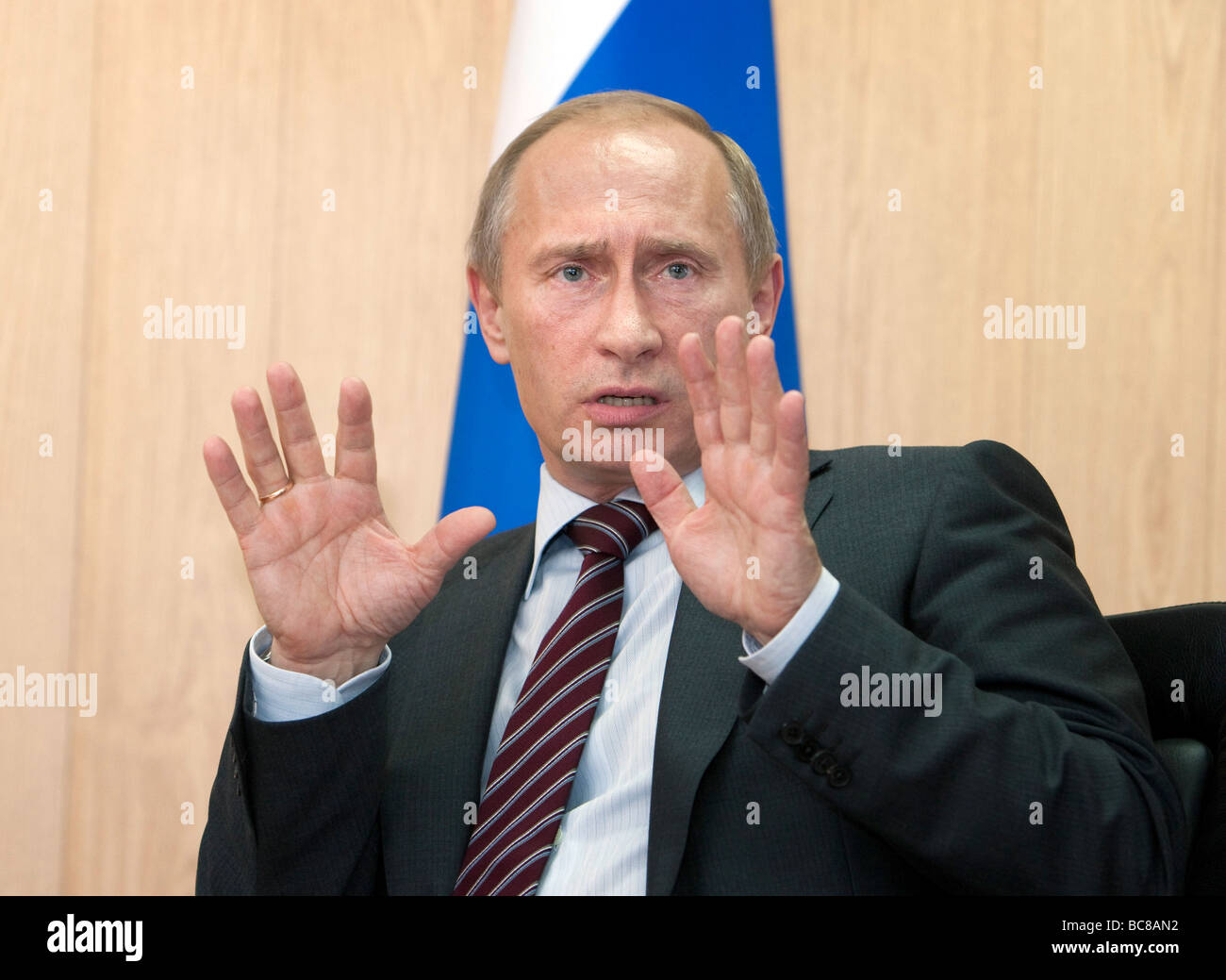 Vladimir Vladimirovich Putin Prime Minister of Russia Moscow Russia - Stock Image