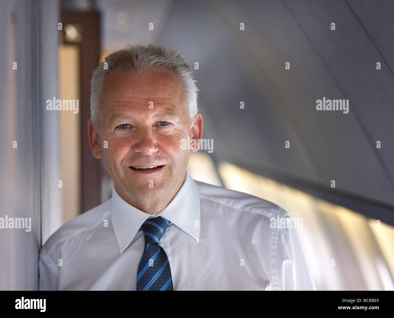 Ruediger GRUBE CEO Deutsche Bahn AG DB AG german national railway company - Stock Image