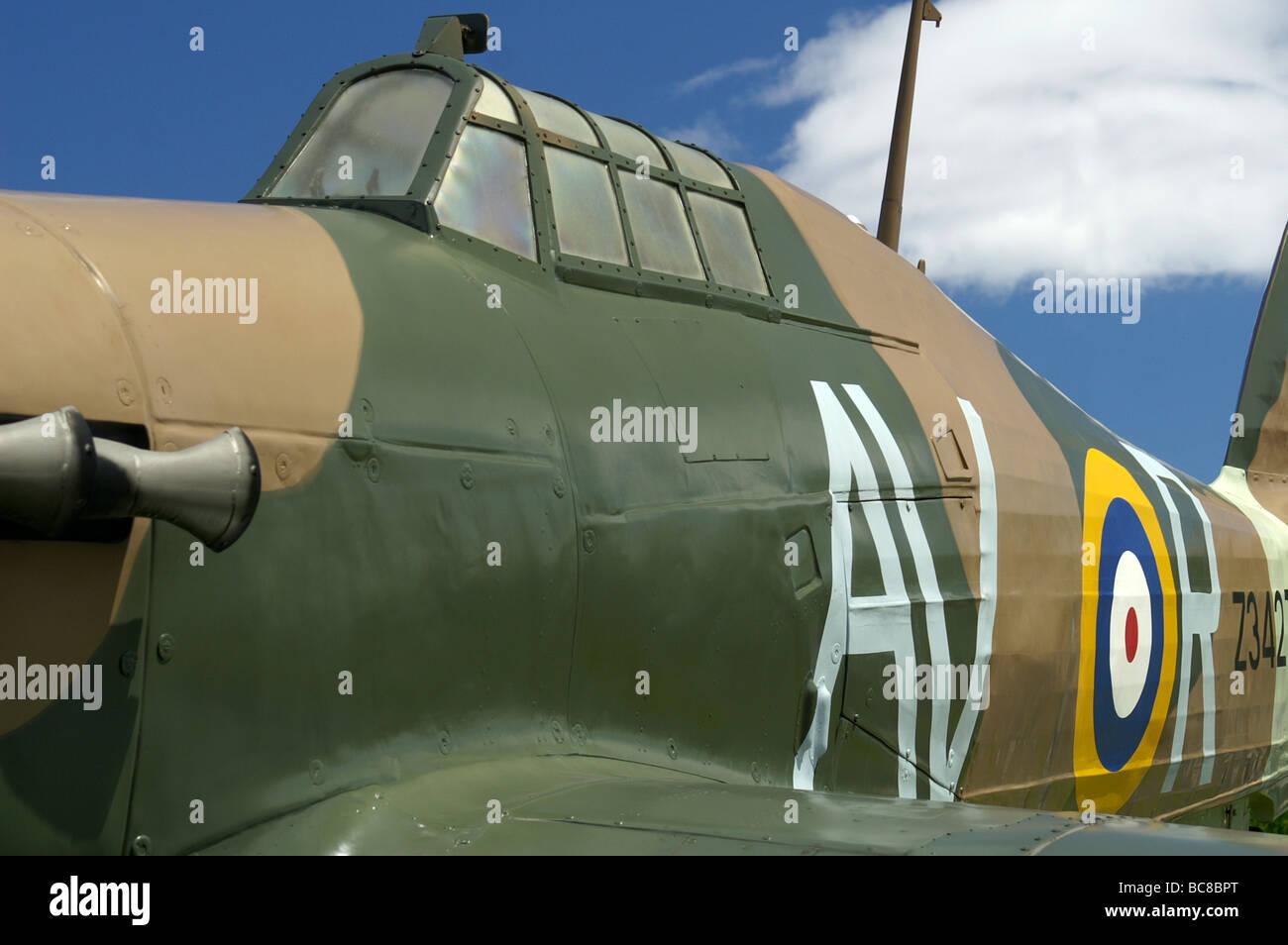 Hurricane in RAF Museum, London - Stock Image