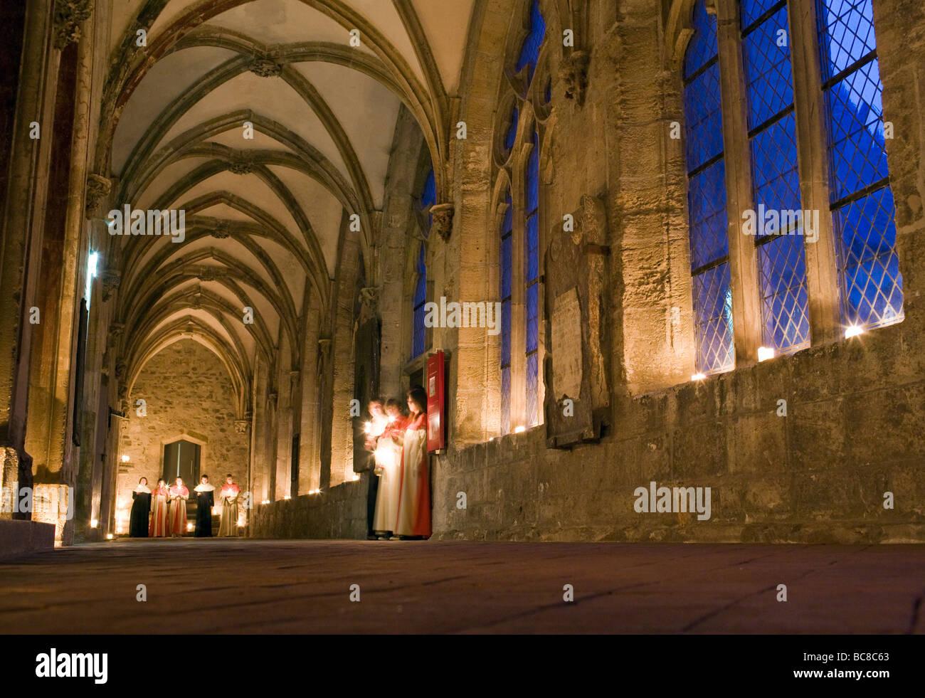 Klassischer Chorgesang im Zisterzienserkloster Walkenried - Stock Image