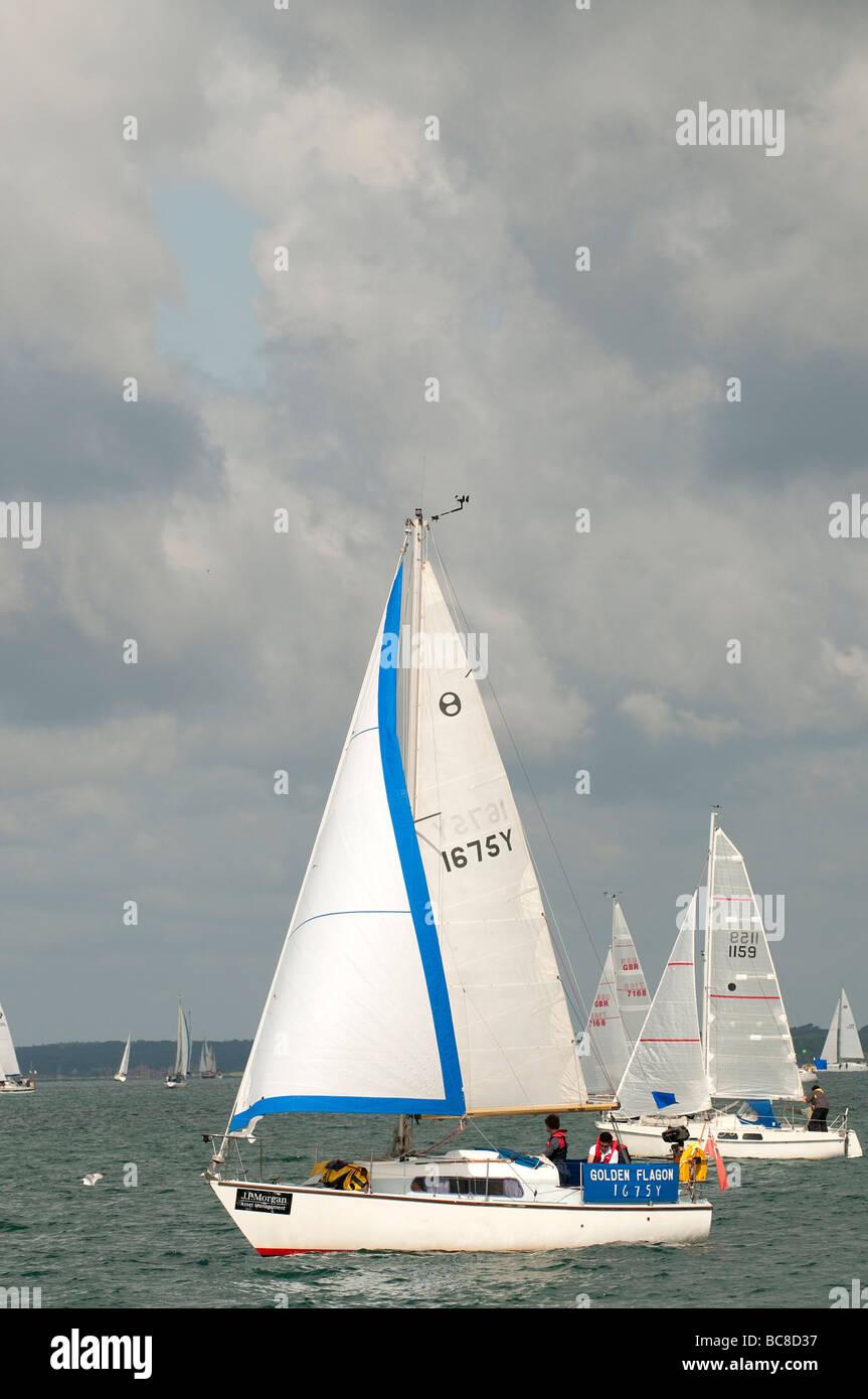 Round the Island Race 2009 Van de Stadt Offshore 26 - Stock Image