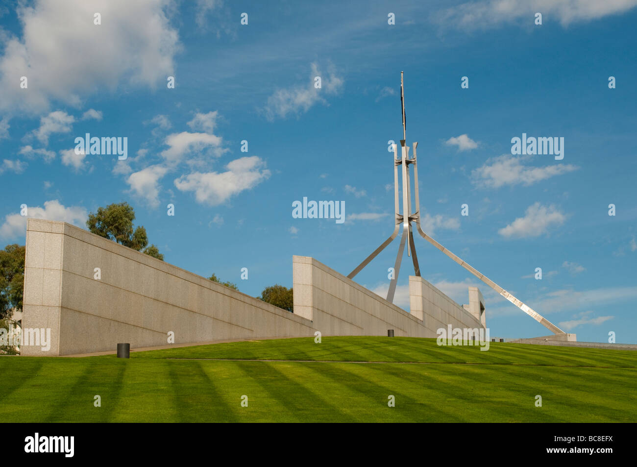 New Parliament House flagpole, Canberra, ACT, Australia - Stock Image