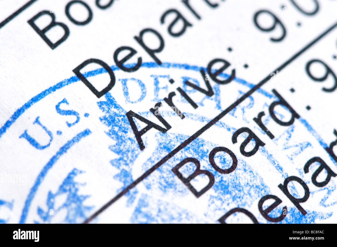 boarding pass and airline ticket with homeland security approval