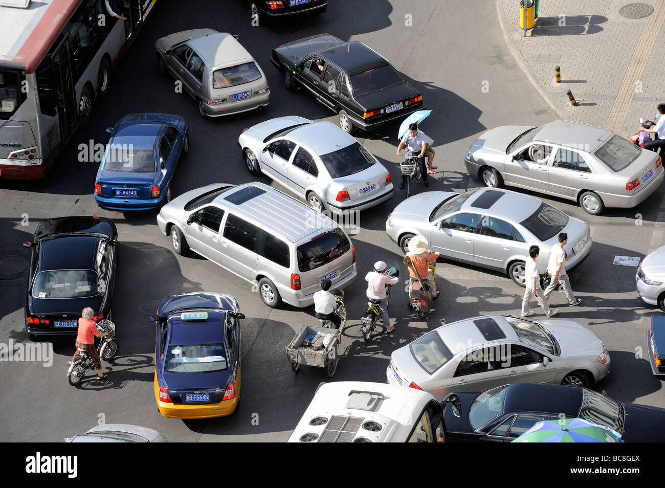 Traffic jam in Beijing, China. 2009 - Stock Image