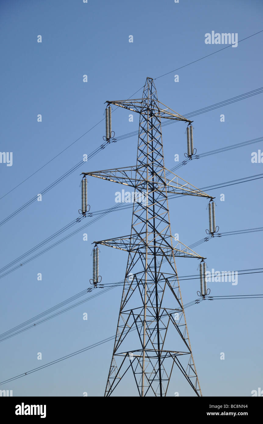 An electricity power pylon - Stock Image