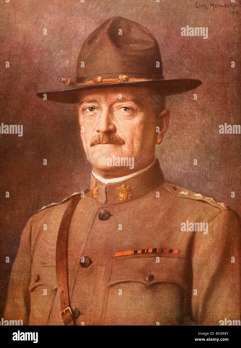 General John Joseph 'Black Jack'  Pershing 1860 to 1948.   Commander of American Expeditionary Force in - Stock Image