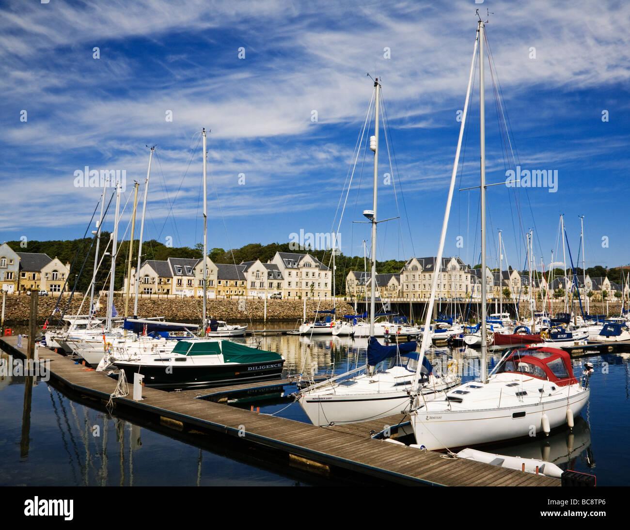Inverkip Marina, Inverkip, North Ayrshire, Scotland. - Stock Image