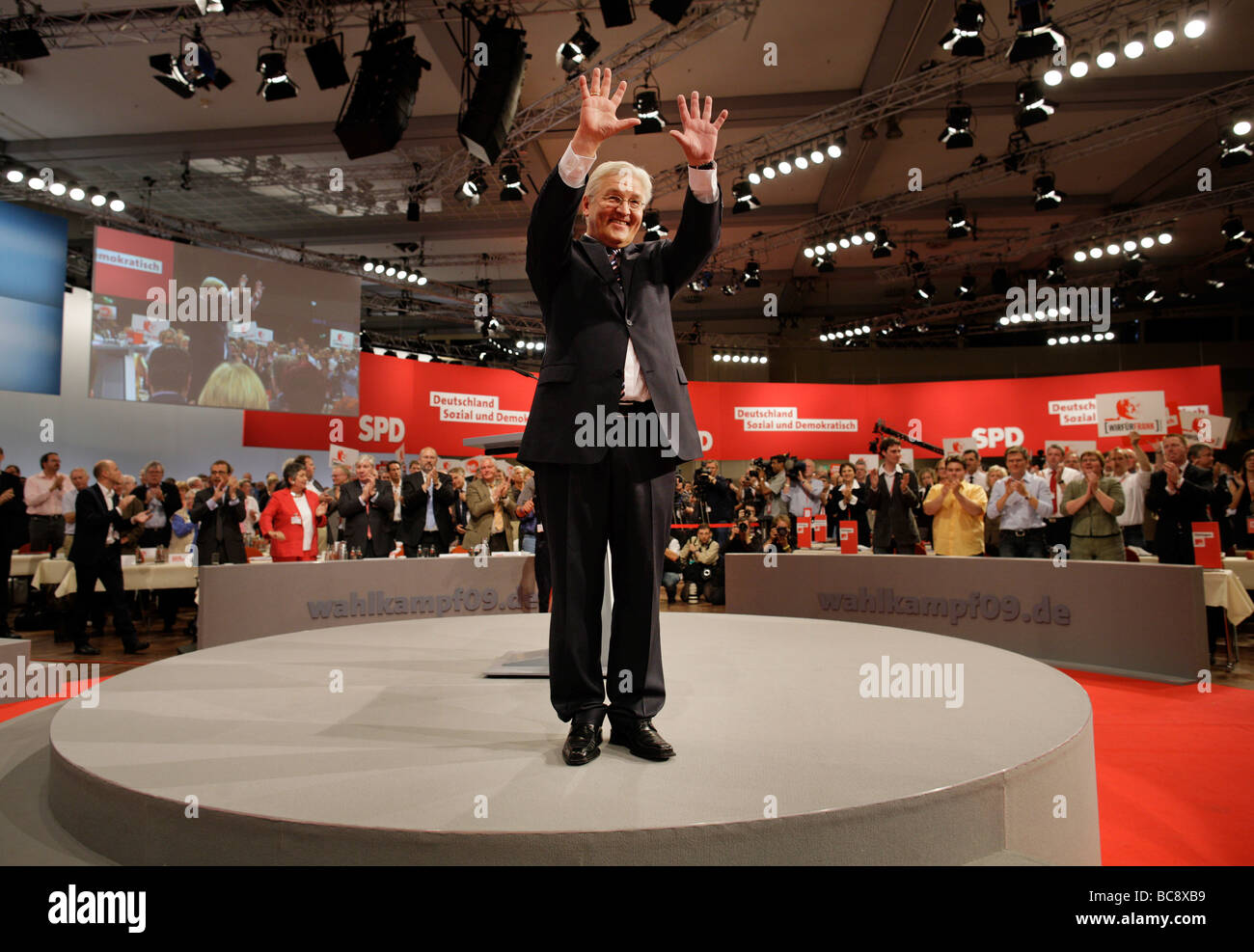Federal Minister for Foreign Affairs of Germany and Vice Chancellor on the party convention of the Social Democratic - Stock Image
