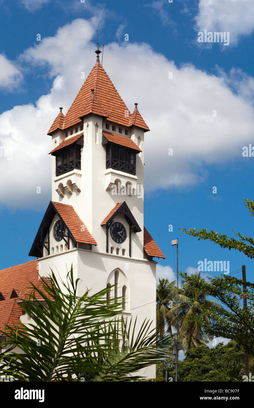 The Azania Front Lutheran Church / St Josephs Cathedral. Dar es Salaam Tanzania - Stock Image