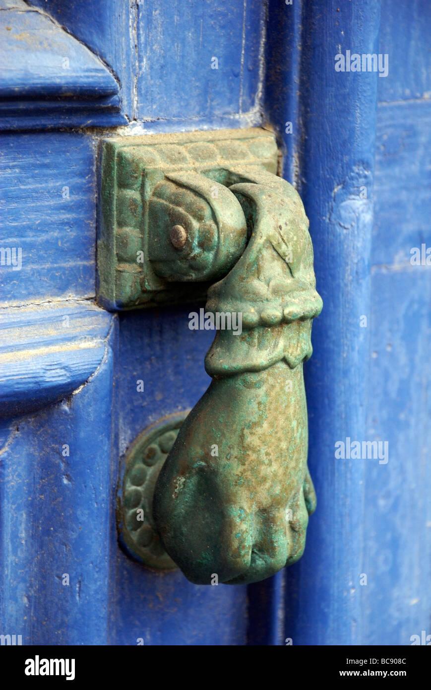 Merveilleux Decorative Door Knocker Hand Design, Roscoff, Brittany, France   Stock Image