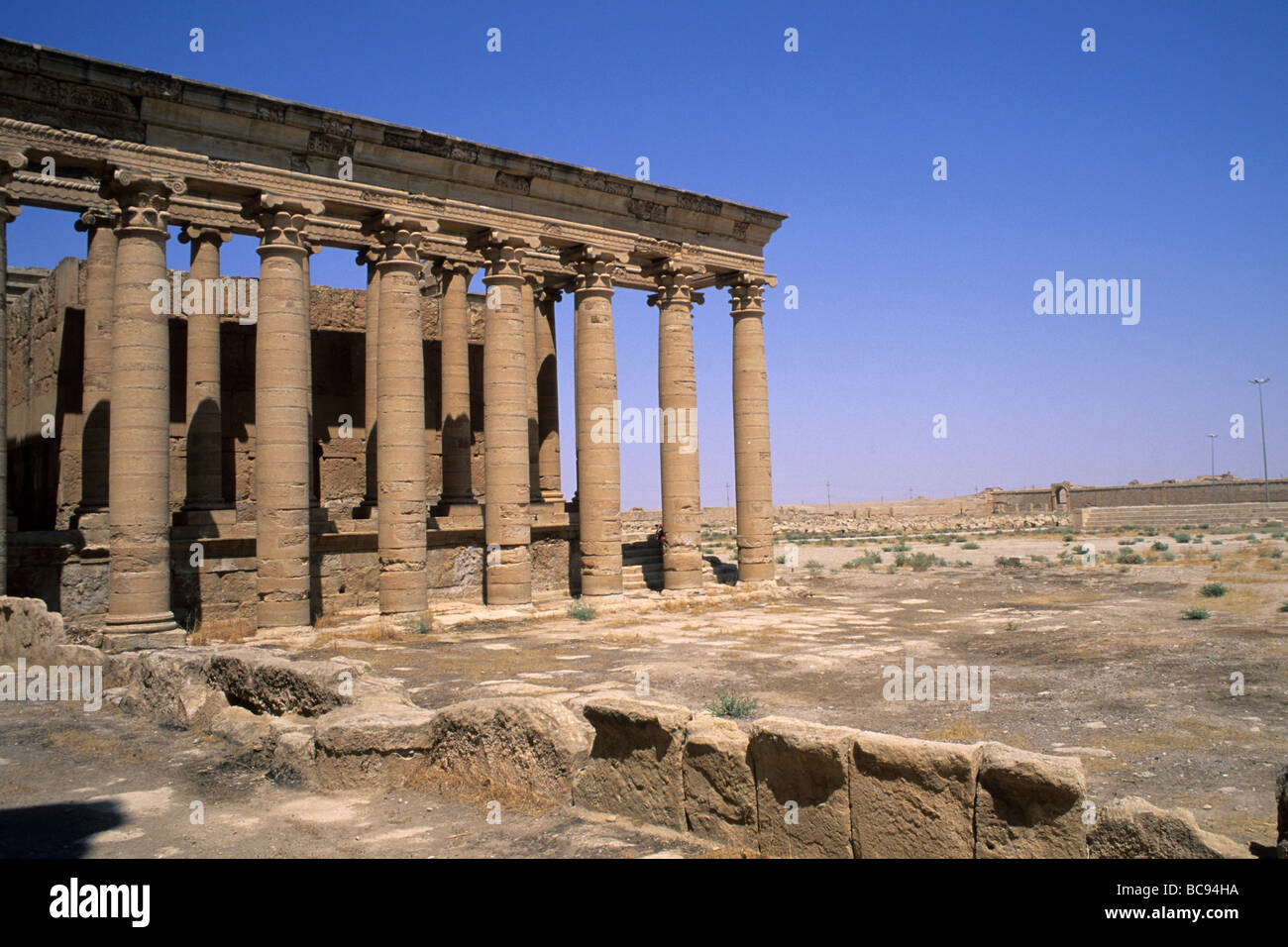 iraq Archaeological site to Hatra - Stock Image