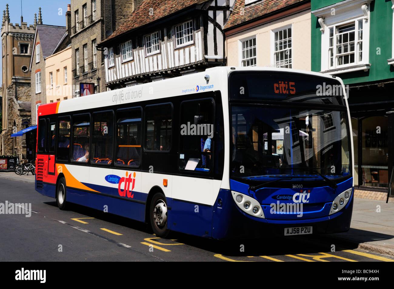 A  Stagecoach Citi 5 single decker bus in Bridge Street ,Cambridge, England, UK - Stock Image