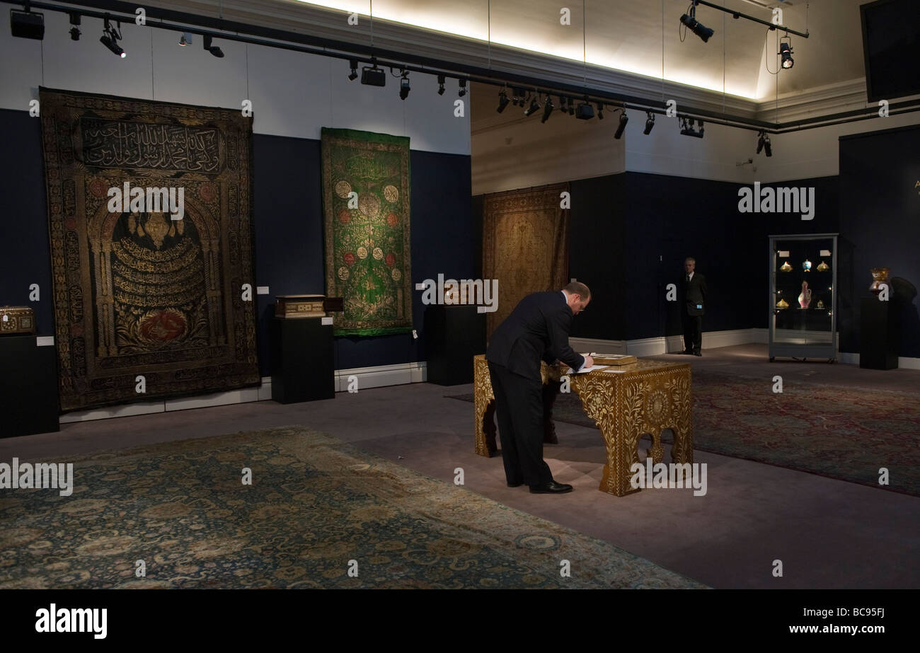 """London Sotheby's """"Arts of the Islamic World"""" sale - Stock Image"""