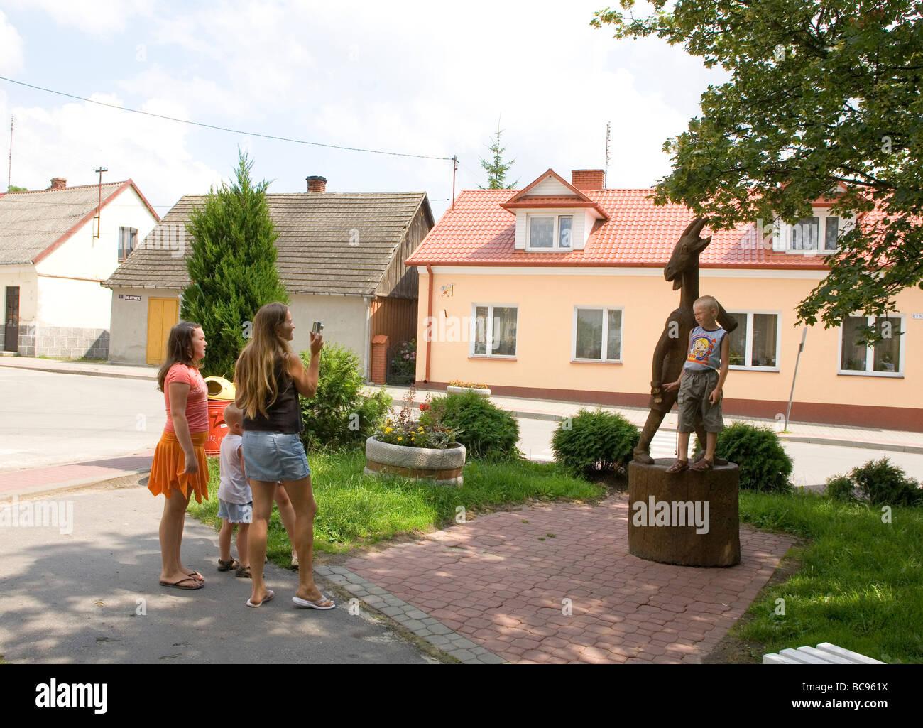 Pacanow town of children s fictional comics character Billy goat Koziolek Matolek Stock Photo