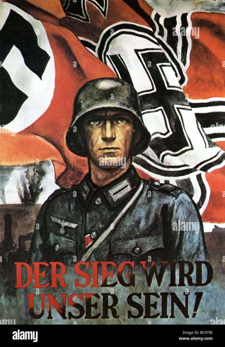 1942 NAZI poster proclaims Victory will be Ours Stock Photo