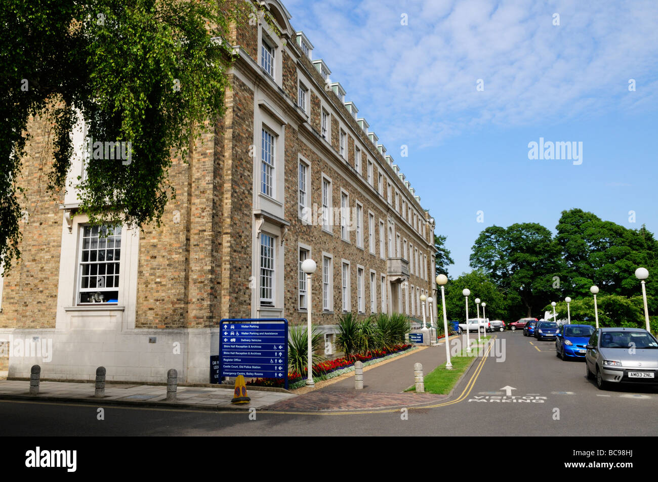 Shire Hall, Cambridgeshire County Council administrative offices, Castle Hill, Cambridge England UK - Stock Image