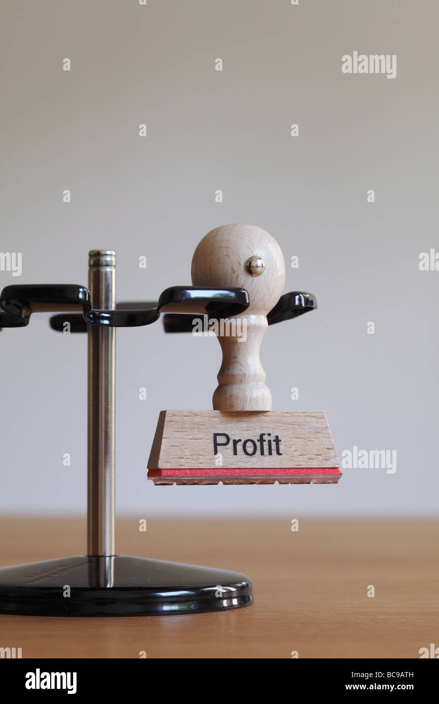 Stamp with inscription Profit - Stock Image