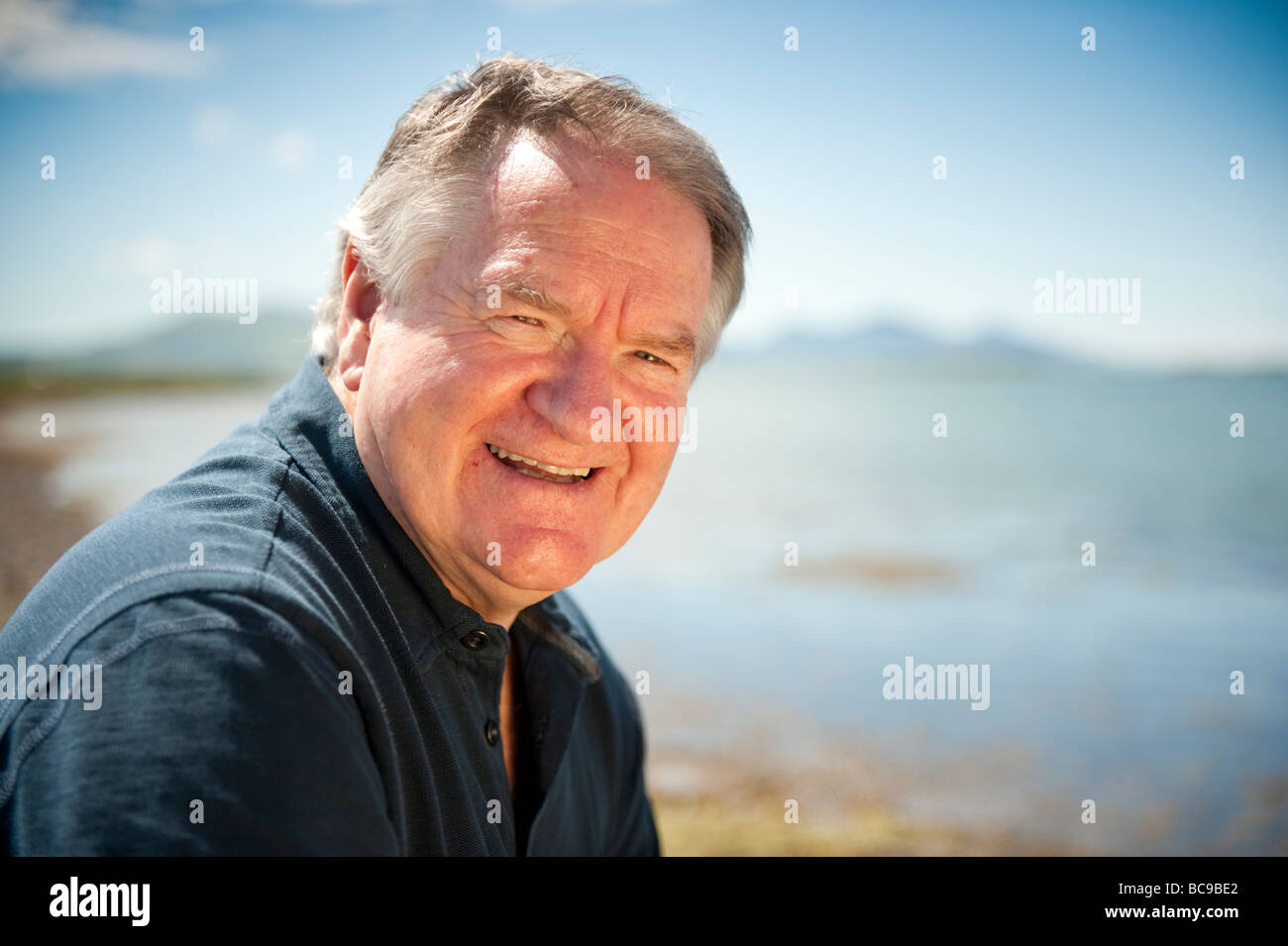 Dafydd Iwan welsh singer politician and businessman - Stock Image
