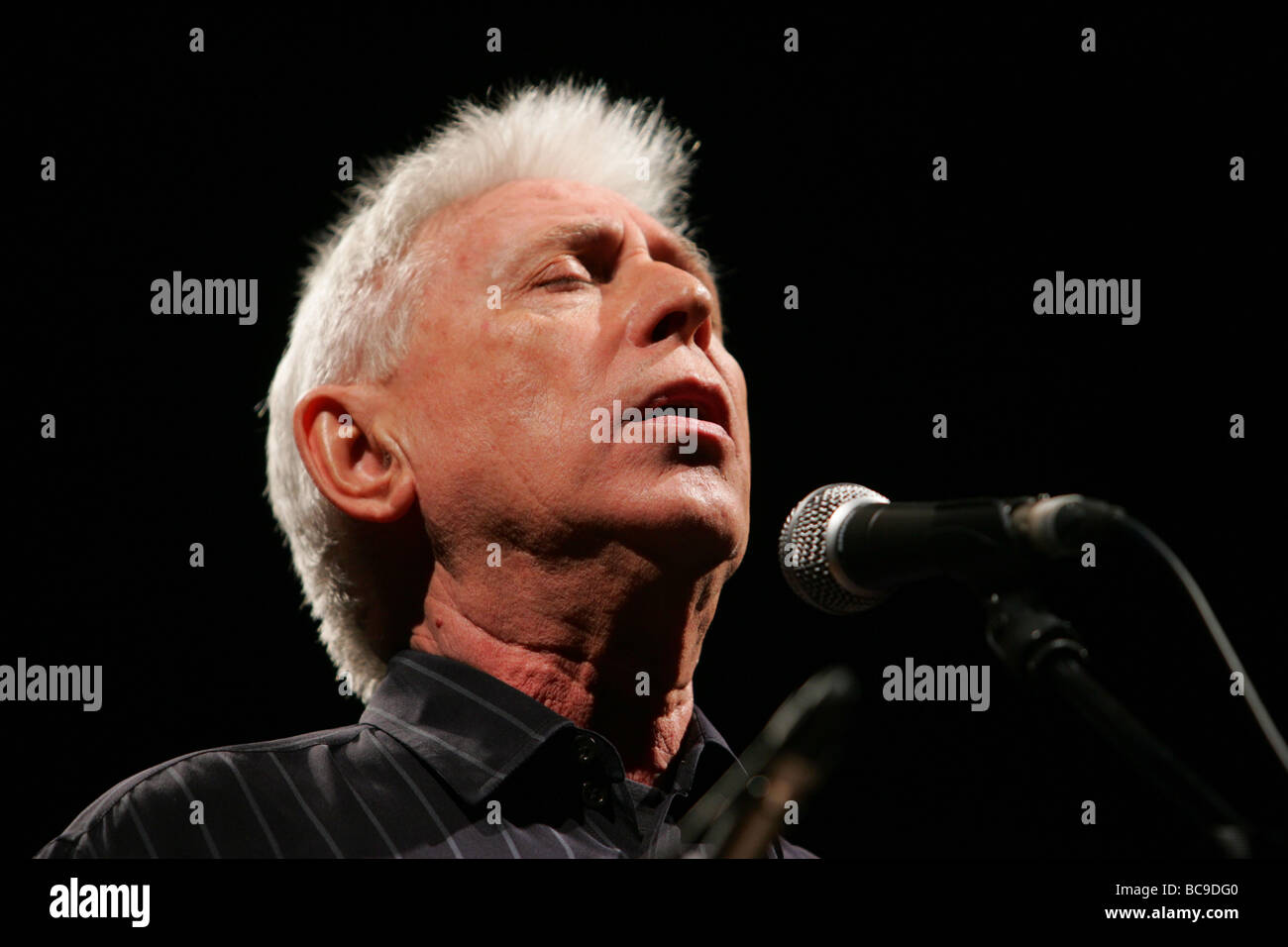 Catalan spanish singer Raimon is seen during a concert on 2008 in Madrid university Spain - Stock Image