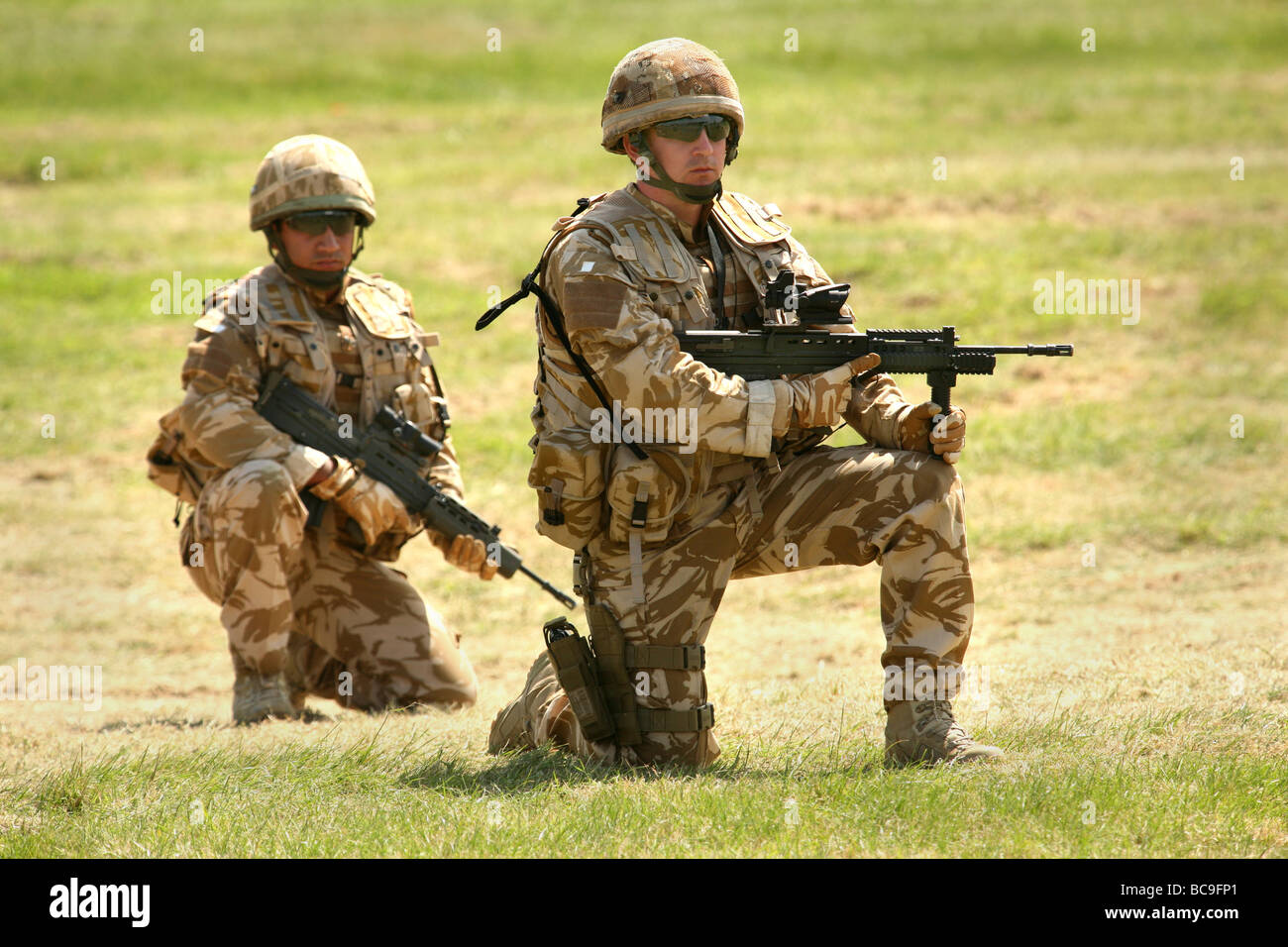 British Army infantry on exercise in UK Stock Photo