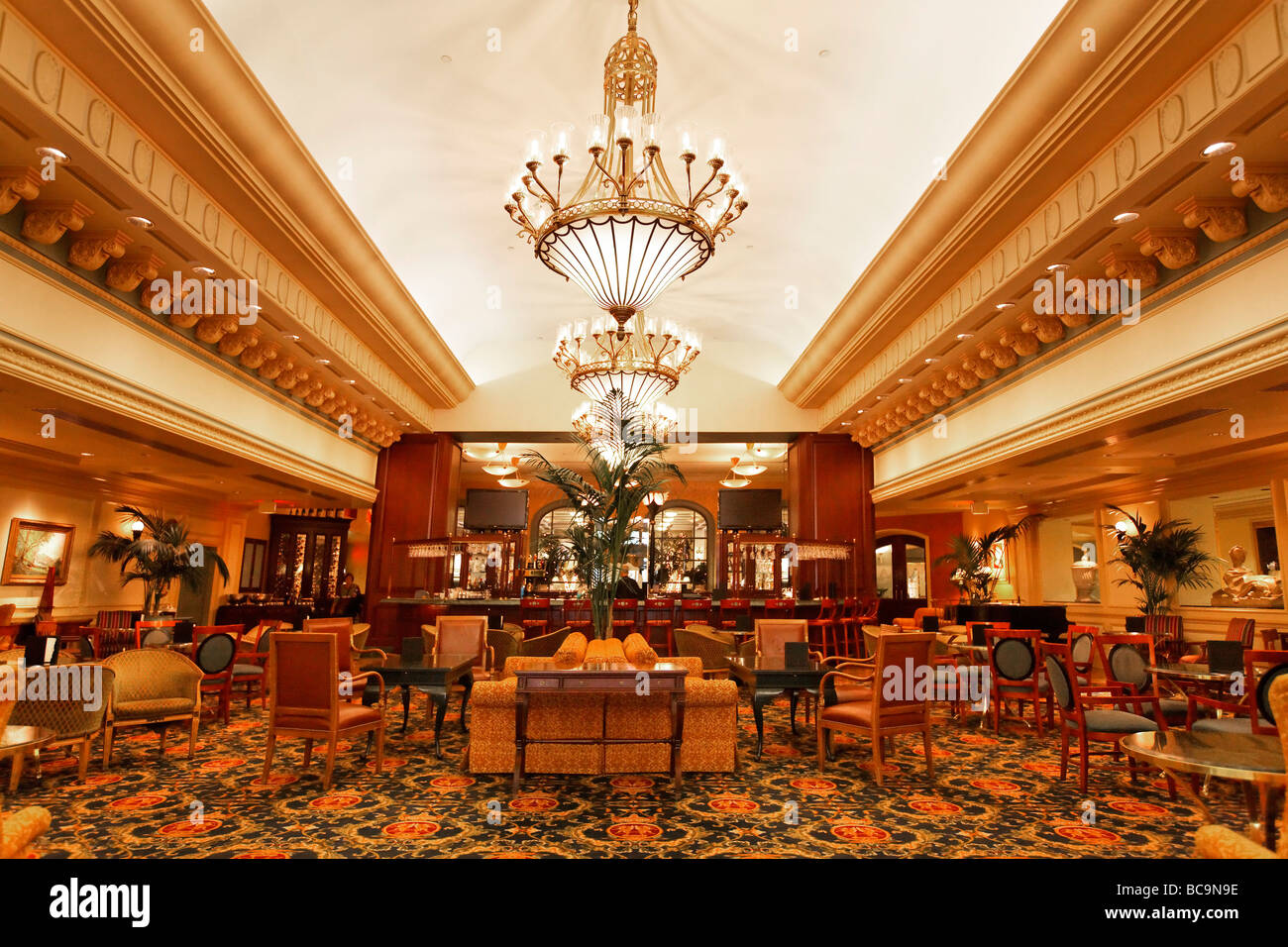Fairmont Hotel Bar Vancouver City Canada North America - Stock Image