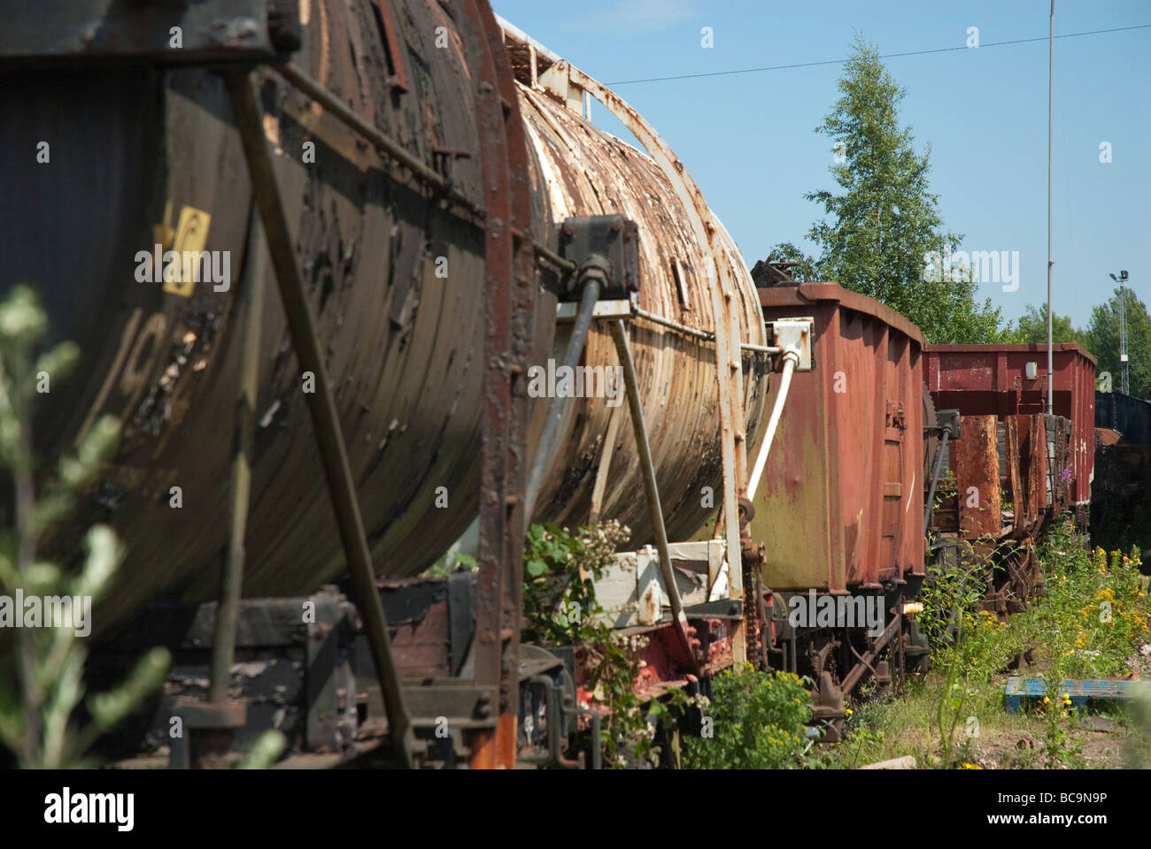 Rusty Railway Carriages - Stock Image