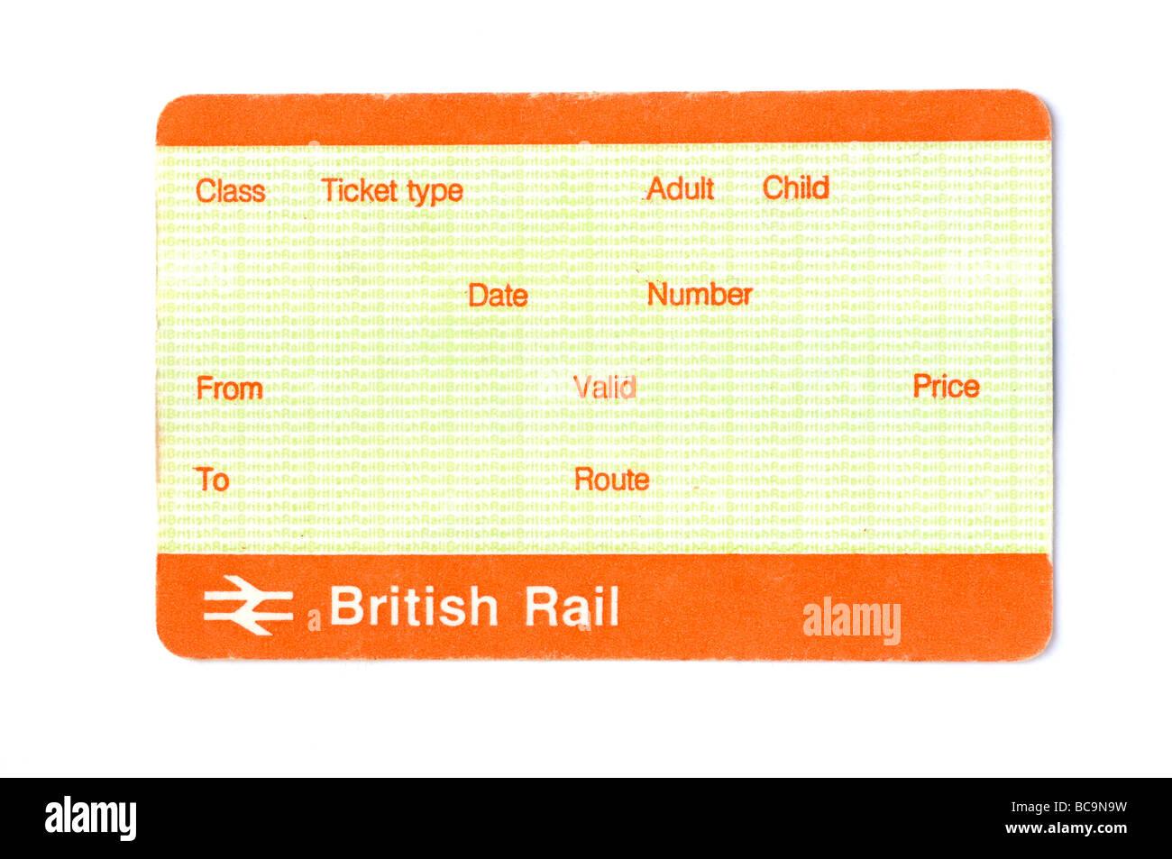 blank british train ticket stock photo 24800549 alamy. Black Bedroom Furniture Sets. Home Design Ideas