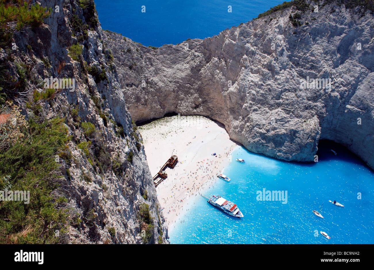 Shipwreck Beach Zante Zakynthos Zakinthos Greek Ionian Island Greece EU European Union Europe Stock Photo