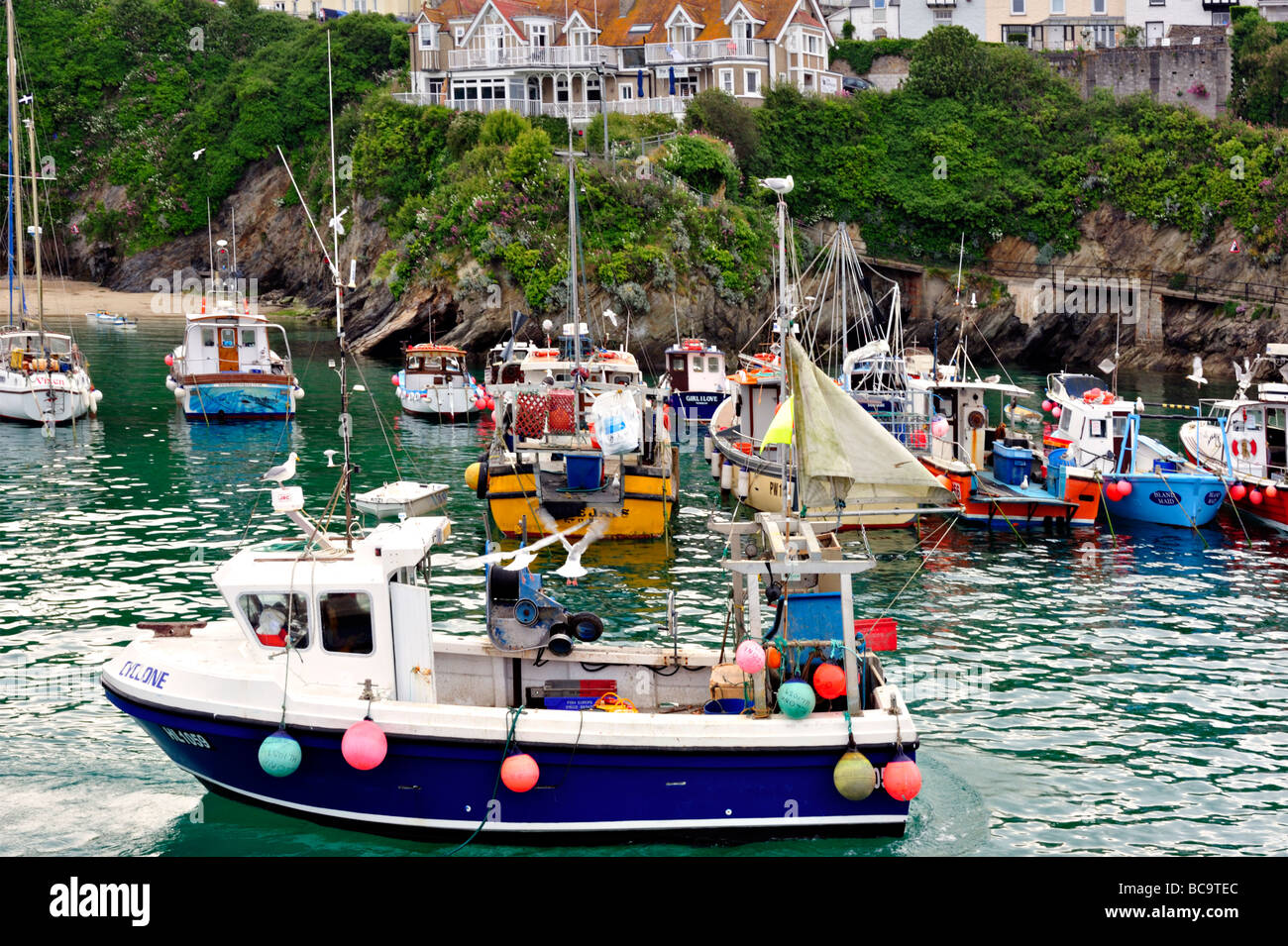 Newquay Harbour - Stock Image
