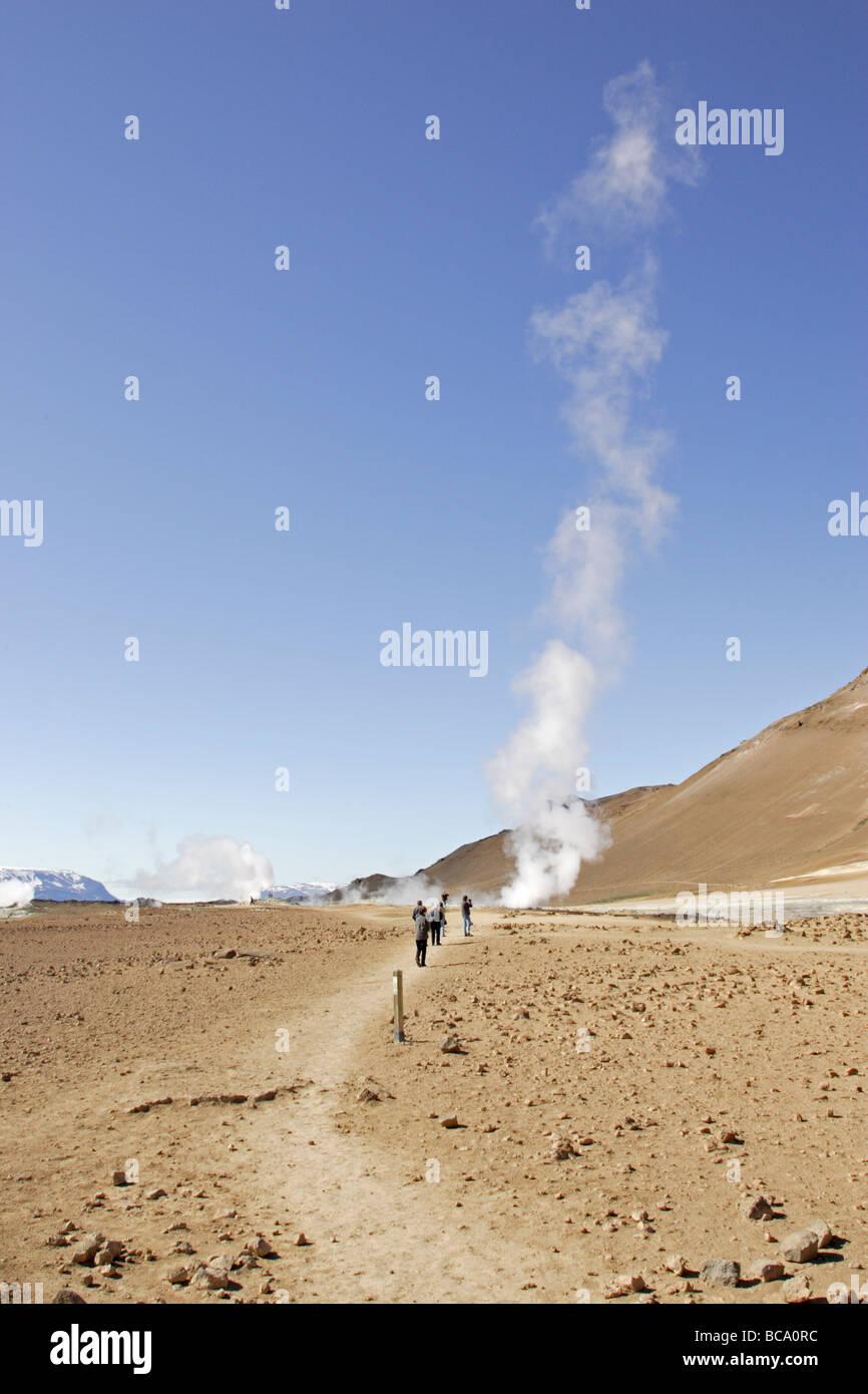 Steam vent at Hverir Iceland - Stock Image