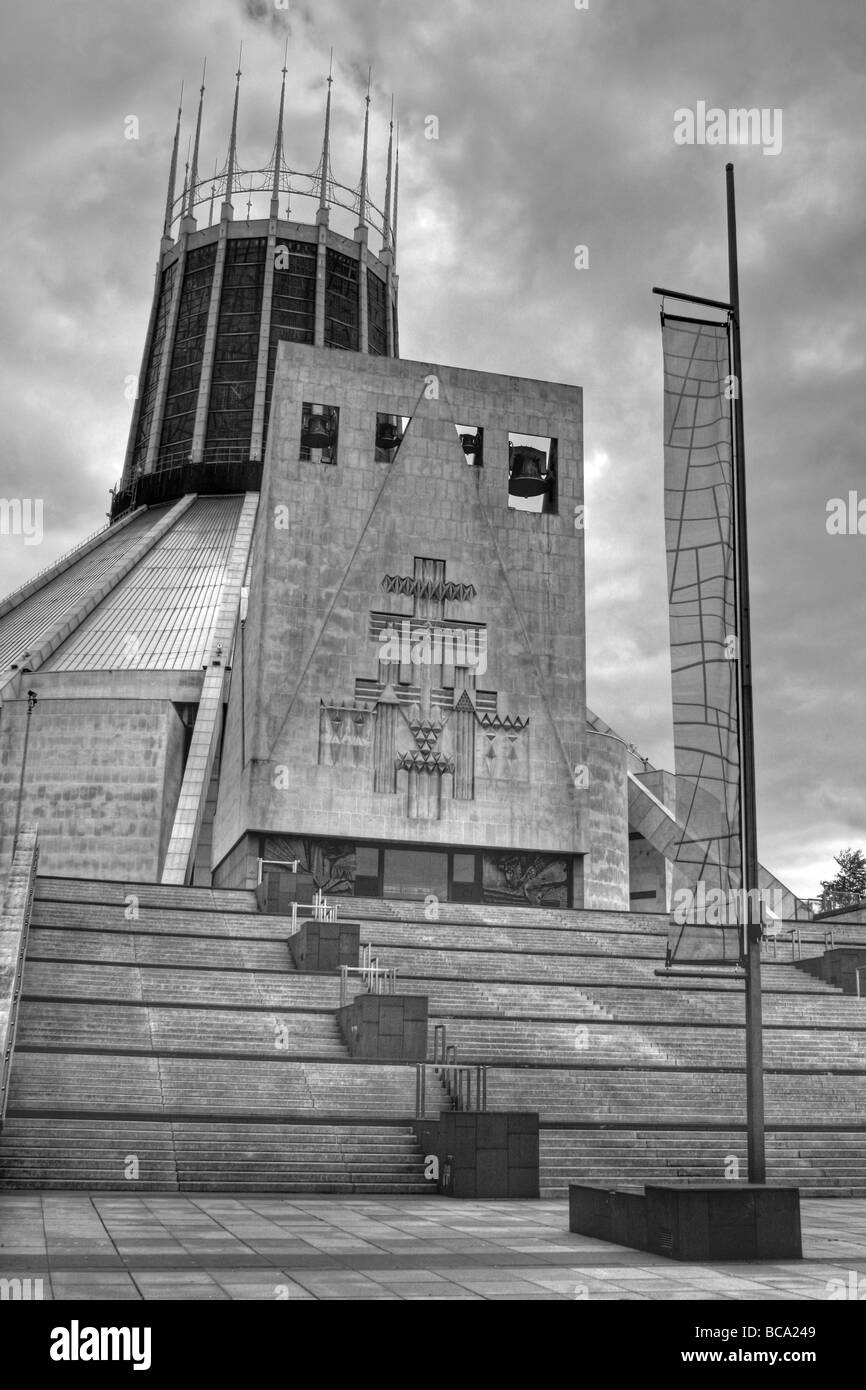 HDR Of The Liverpool Metropolitan Cathedral of Christ the King, Merseyside, UK Stock Photo