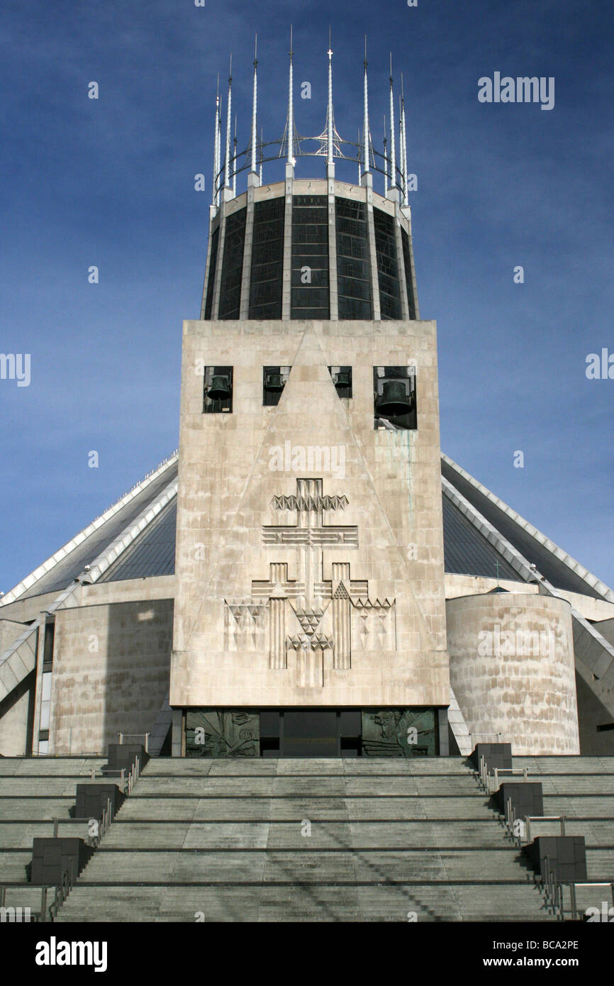 The Liverpool Metropolitan Cathedral of Christ the King, Merseyside, UK Stock Photo
