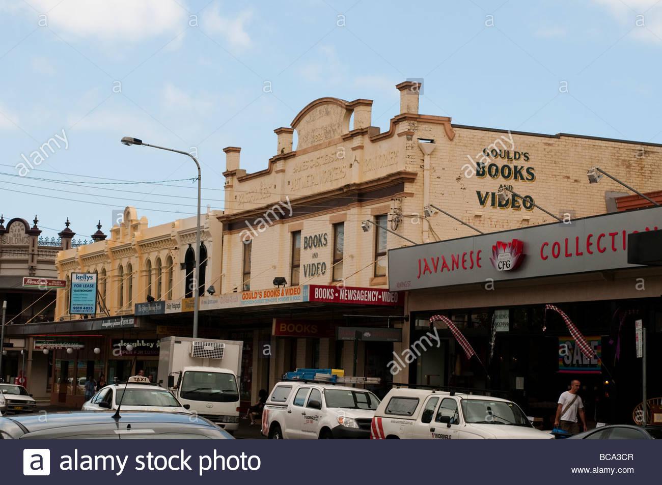 Gould's Books Video secondhand bookshop on King Street Newtown Sydney NSW Australia - Stock Image