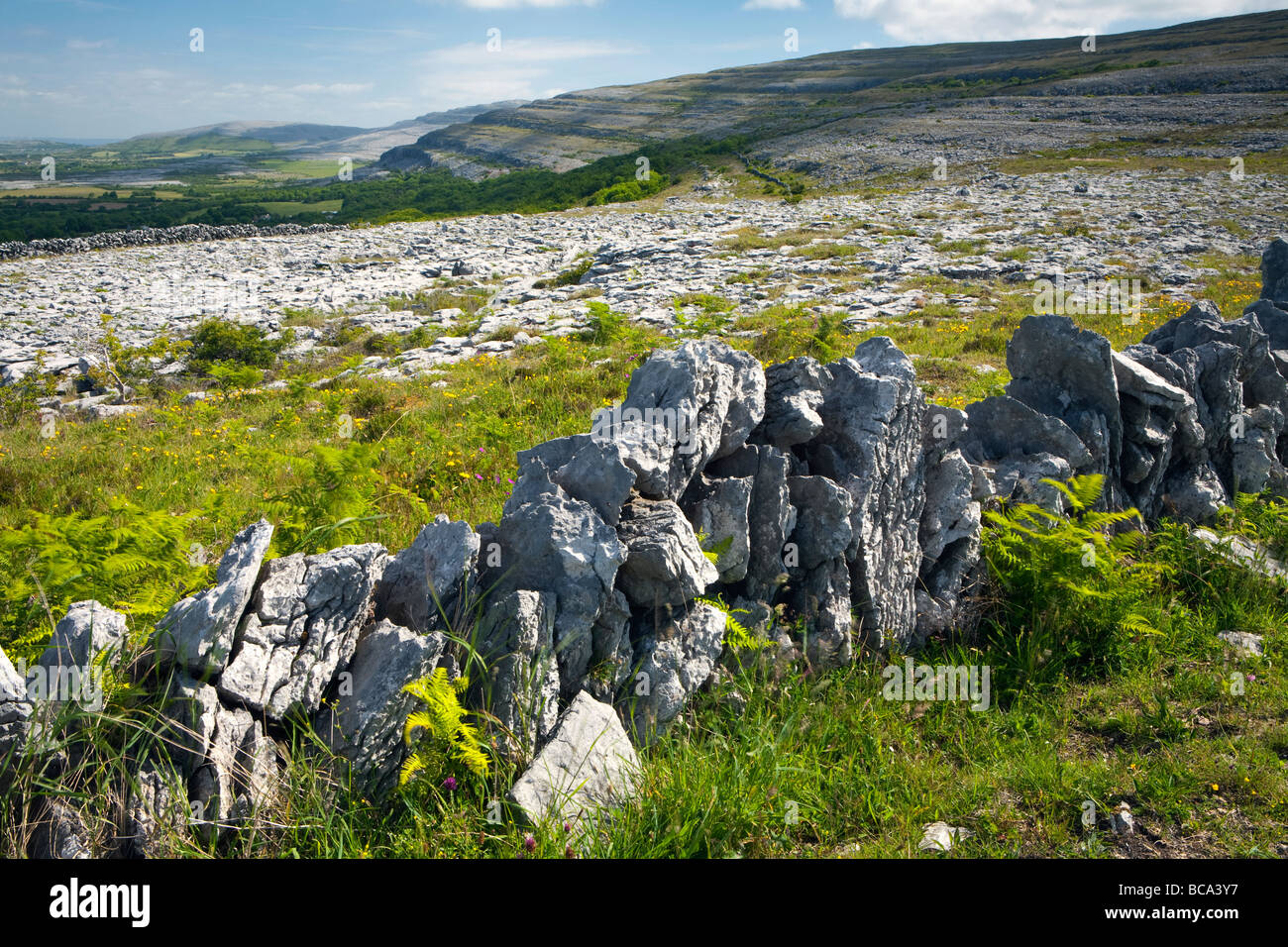A landscape view taken in the Burren, County Clare, Eire - Stock Image