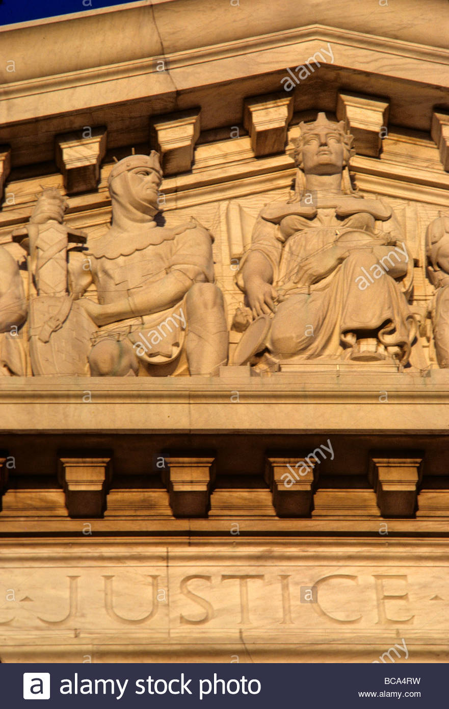 Detail of the U.S. Supreme Court building. - Stock Image