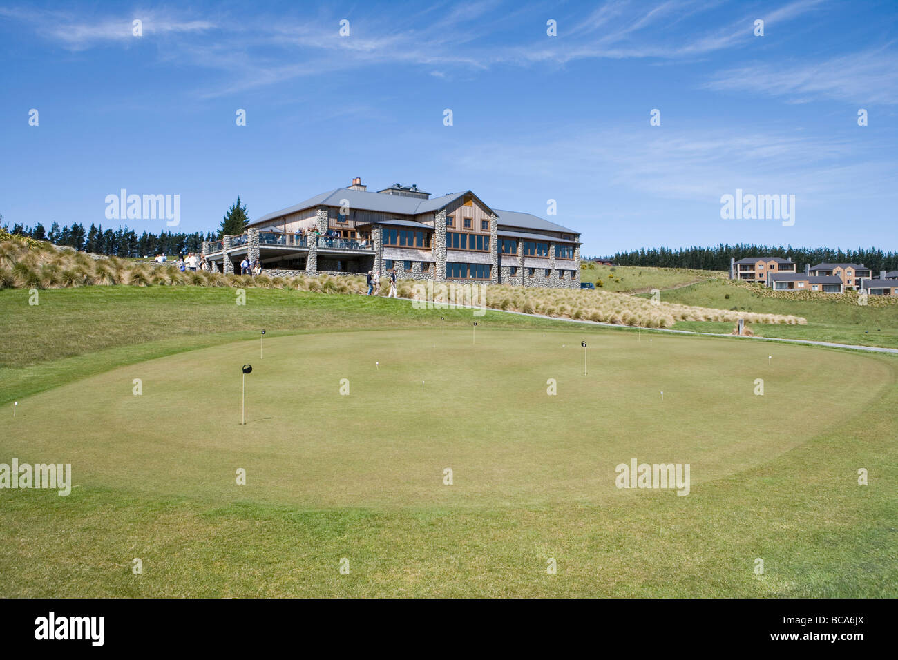Putting Green at Terrace Downs High Country Resort, Near Mt. Hutt, Canterbury, South Island, New Zealand - Stock Image