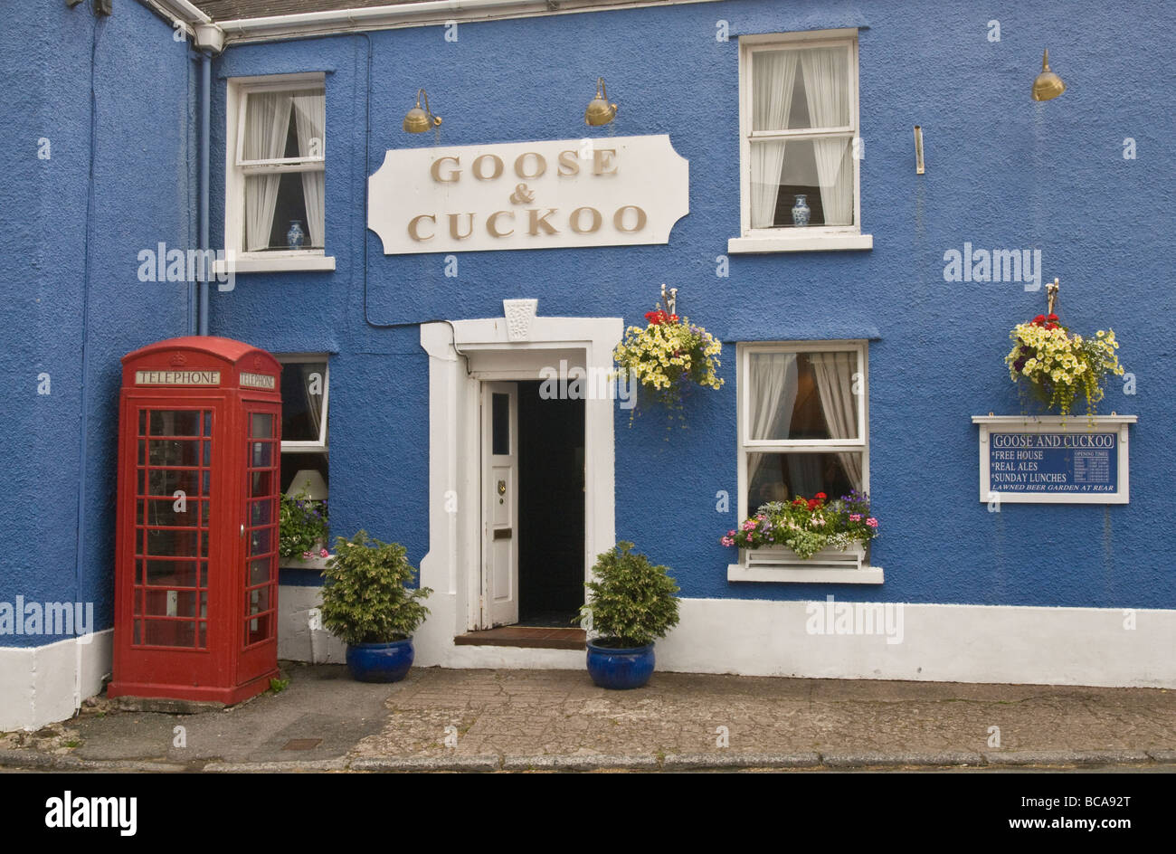 The Goose and Cuckoo Pub in Llangadog Carmarthenshire Wales - Stock Image