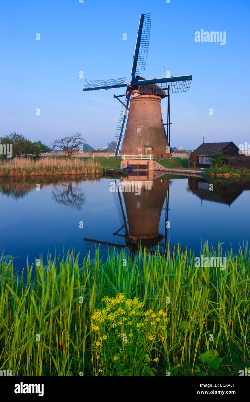 Windmills at the Kinderdijk, Netherlands - Stock Image