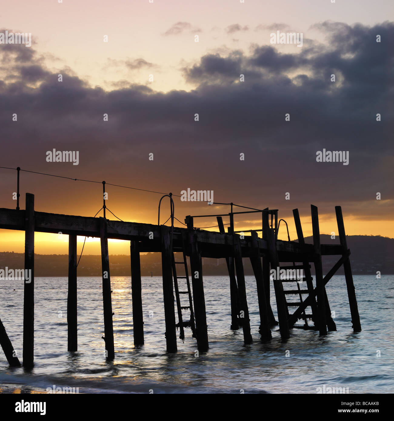 Pier at Holywood County Down Northern Ireland - Stock Image
