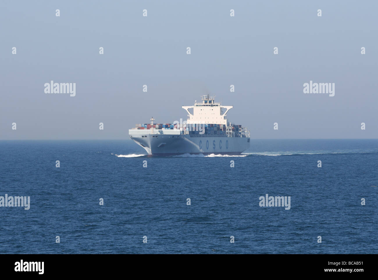 Container ship at sea  June 2009 - Stock Image