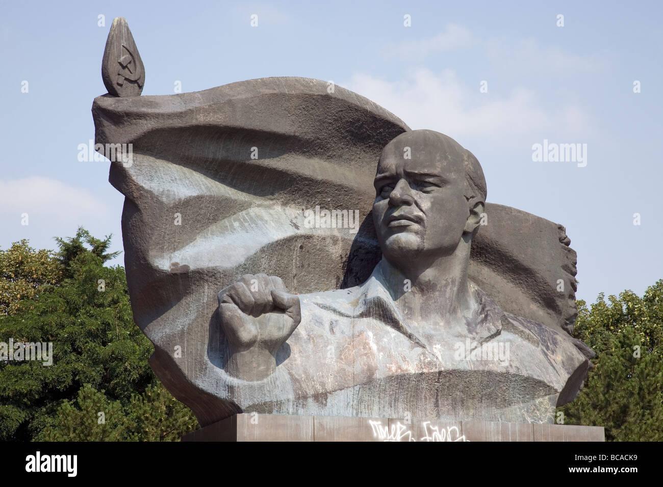 Ernst Thälmann Monument, Berlin, Germany - Stock Image