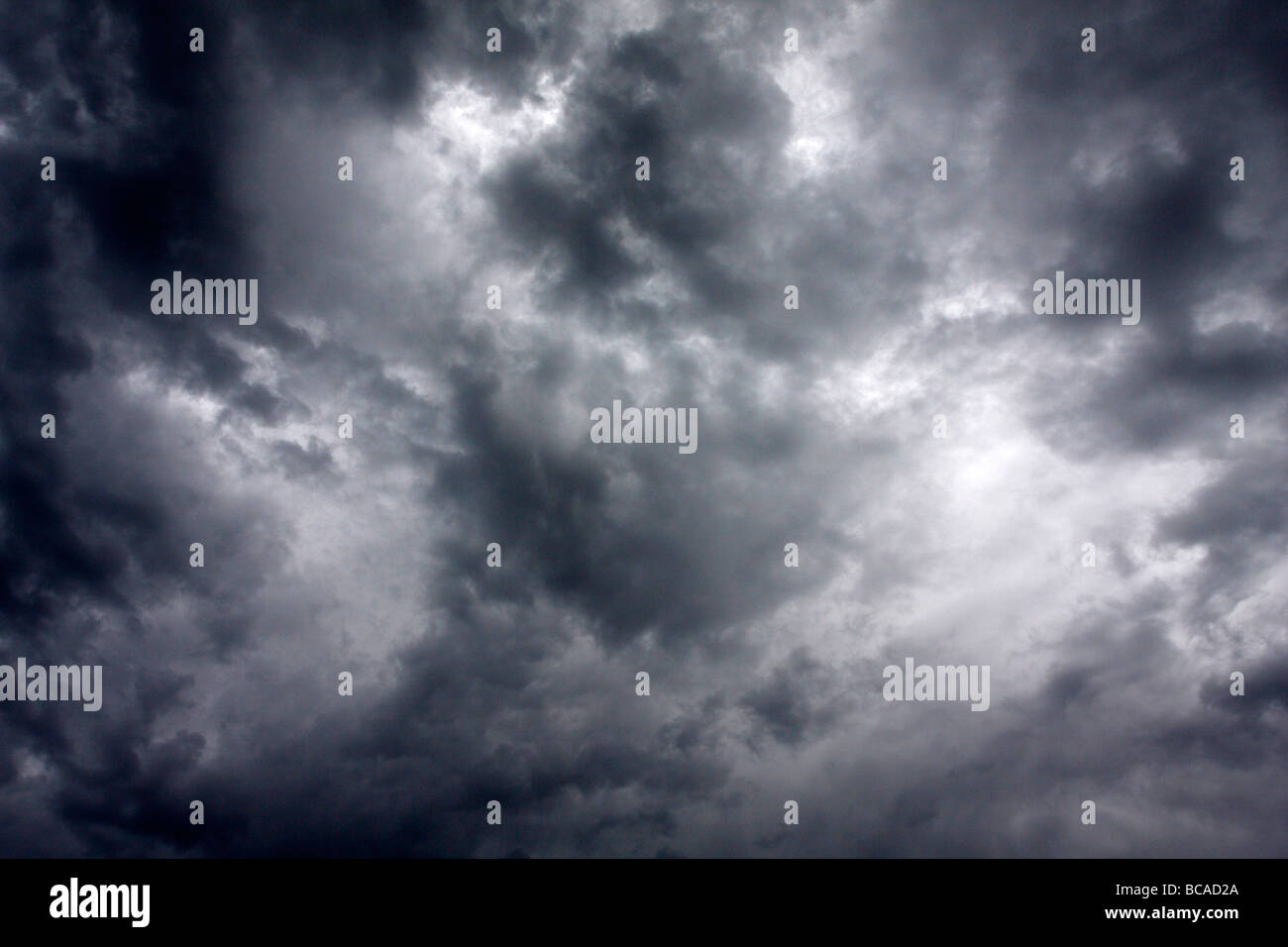 Clouds overhead, detail of thunderstorm. - Stock Image