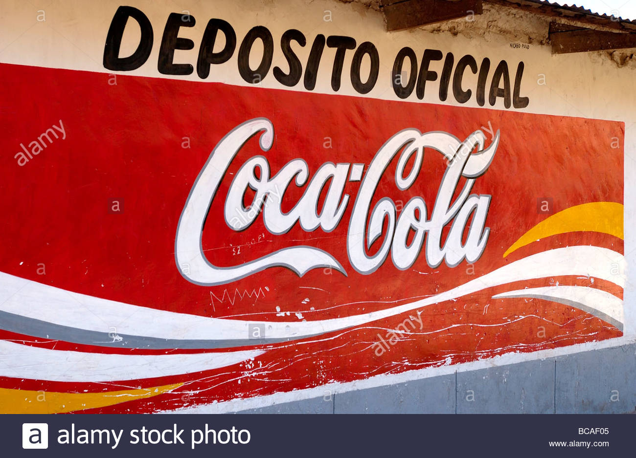 peru coca cola advertisment stock photo 24817525 alamy