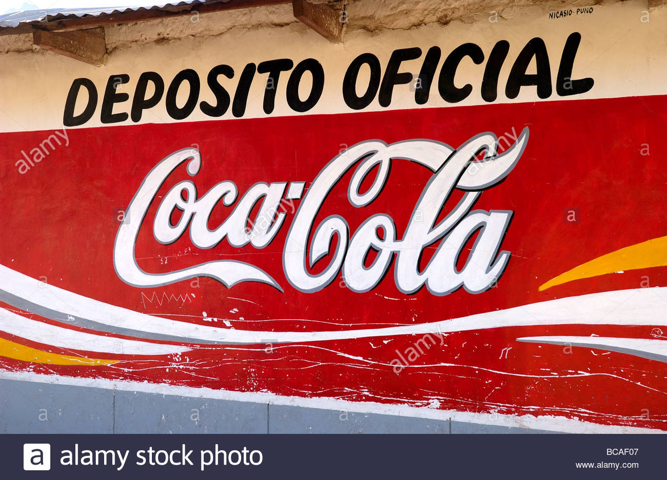 peru coca cola advertisment stock photo 24817527 alamy