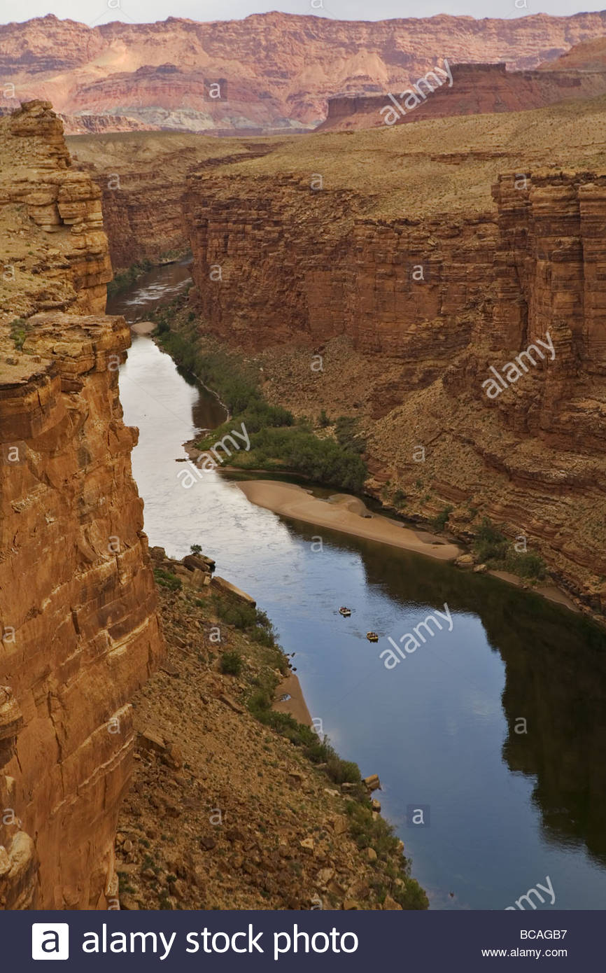 View from Navajo Bridge, Marble Canyon, Arizona. - Stock Image