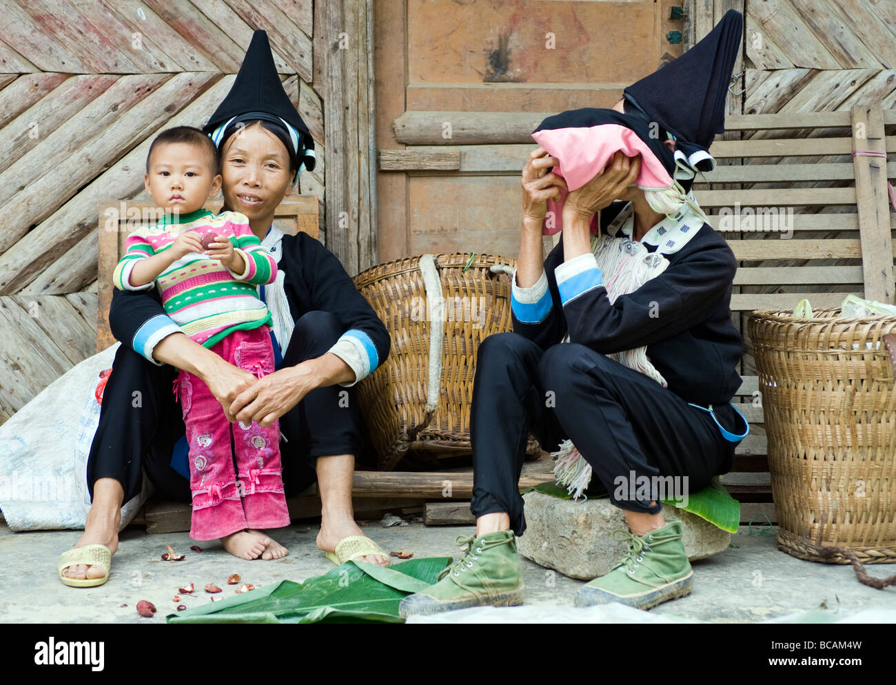 Yao Ethnic Minority in Jinping County, Yunnan, China - Stock Image